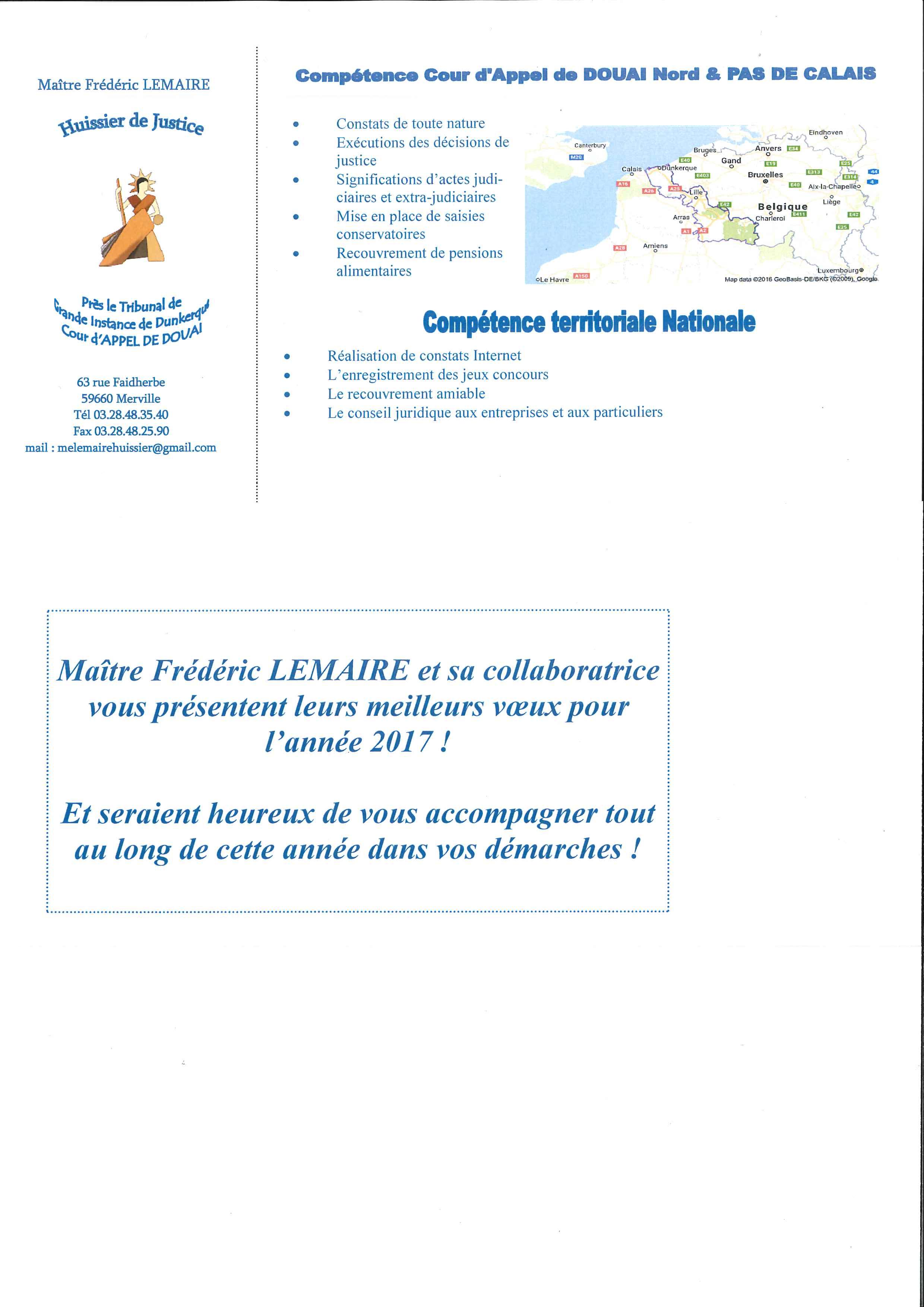 Huissier de Justice Ma tre Lemaire